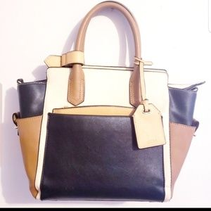 Reed Krakoff Tan, Cream & Black Spacious Tote Bag